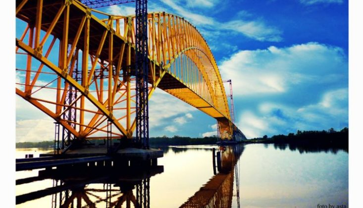 Jembatan Teluk Mesjid Lokasi : Jl. Tlk. Masjid, Sungai Tengah, Sabak Auh, Kabupaten Siak